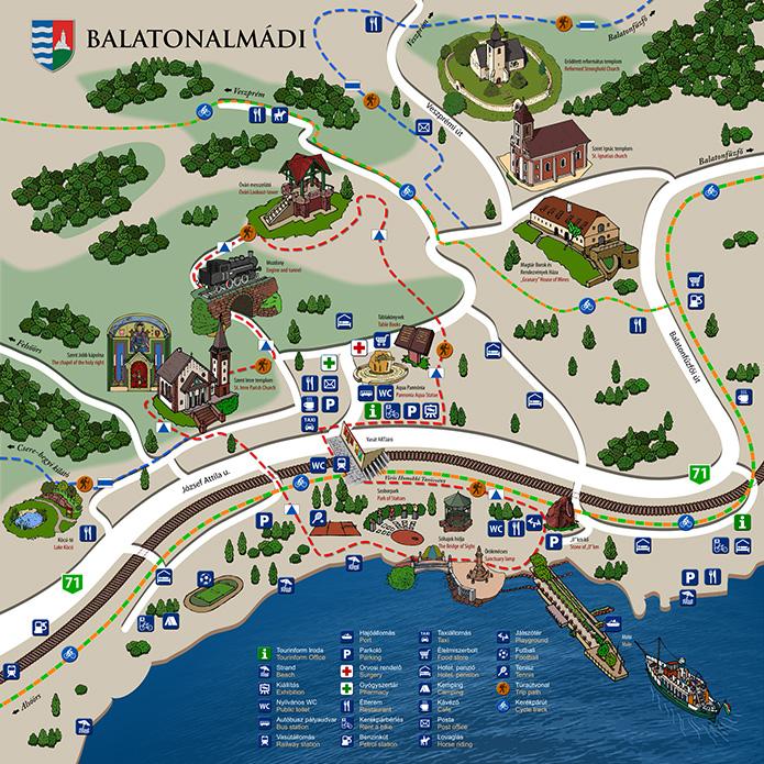 balatonalmádi térkép Turizmus :: Térkép balatonalmádi térkép